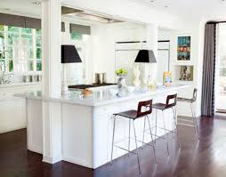 interesting white kitchen design with modern design and concept