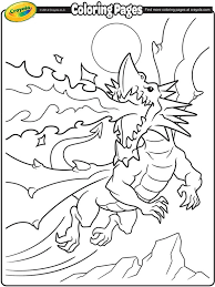 fire breathing dragon coloring crayola