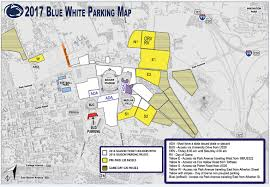 penn state park map fans reminded of blue white parking changes and details