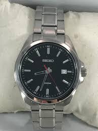 seiko steel bracelet images Men 39 s seiko sur061 stainless steel bracelet black 100m quartz dial jpg