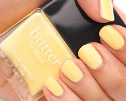 butter london jasper an opaque pastel yellow creme think