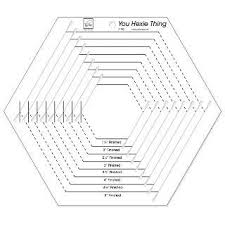 you hexie thing slotted hexagon template ruler 9 sizes 1 5