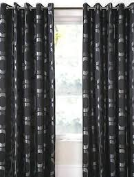 Black And Silver Curtains Black And Silver Curtains Lined Ready Made Eyelet Ring Top Heavy