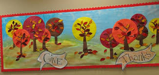 give thanks thanksgiving bulletin board idea