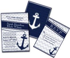nautical themed wedding invitations nautical chevron navy blue wedding invitation save the dates