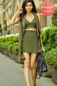 mirabella fashion mirabella a line eyelet detail mini skirt in khaki green