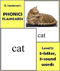 amazon com phonics reading flashcards 3 letter 3 sound words