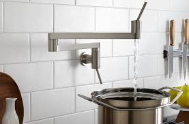 kitchen pot filler faucets faucets pot fillers tiles plus