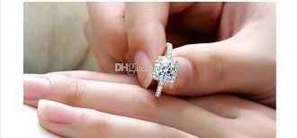 Square Wedding Rings by 2017 Silver Plated Wedding Rings For Women Square Simulated
