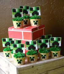 minecraft cupcake ideas kara s party ideas minecraft birthday party free printables