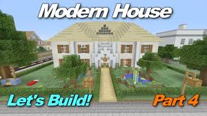 minecraft xbox 360 modern house let u0027s build part 4 the roof