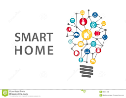 smart home automation concept vector illustration of connected