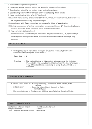 exle of a professional resume for a cv professional bharathraj b r