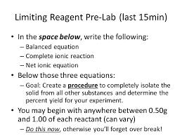 exp 8 limiting reactant prelab answers 100 images chem lab 8