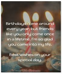 birthday greetings for best friend bday wishes cakes