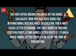 how much is postage to canada from the us youtube