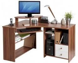 bureau ordinateur angle bureau d angle informatique angle gauche tanga noyer rangement