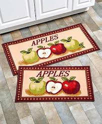 fancy fruit kitchen rug sets 2 pc themed kitchen rug sets the