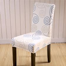 Polyester Chair Covers Sunnyrain 4 6 Pieces Polyester Chair Covers Spandex Wedding Chair