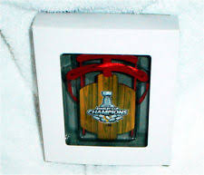 pittsburgh penguins 2016 stanley cup chions metal sled ornament