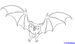 coloring pages draw a bat coloring page blog