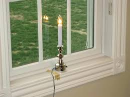Electric Candle Lights For Windows Designs Window Candle Electric This Electric Window Candle Light Features