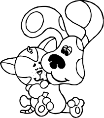 blue u0027s clues dog cat coloring wecoloringpage
