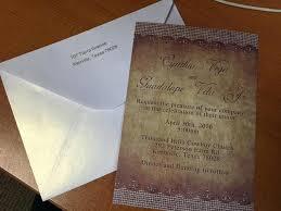 wedding invitations reviews thanks wedding invites review 118 rustic barn burlap