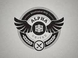 alpha design alpha united crest logos brand identity and typography