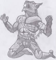 werewolf sketch by spider vamp on deviantart