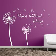 dandelion floral flying without wings decal wall stickers decor dandelion floral flying without wings decal wall stickers decor