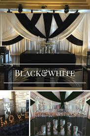 exquisite black and white themed wedding decor with matching