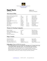 sample resume for beginners sample acting resume sample actor