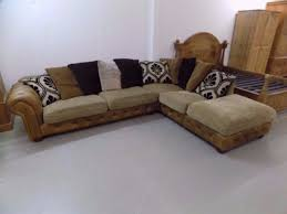 chesterfield style fabric sofa tan leather u0026 fabric corner sofa chesterfield tetrad style in