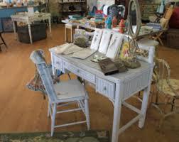 Rattan Desk Chair Vintage Wicker Desk Chair Etsy
