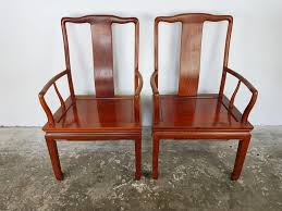 desk and chair set vintage chinese rosewood desk chairs set of 2 for sale at pamono