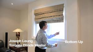 hobble roman shades toronto blinds master youtube