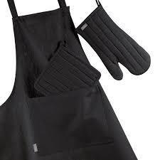 tablier cuisine noir tablier trend enfant noir winkler tabliers torchons gants