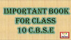 important book for class 10 c b s e 2017 18 youtube