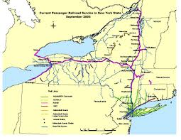 New York State Map by Passenger Rail Repository