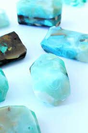 turquoise gemstone diy gemstone soap tutorial how to make easy gem mineral shaped