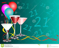 birthday martini white background twenty first birthday party background template royalty free stock