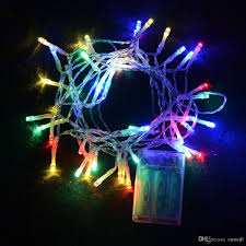 battery powered led christmas lights outdoor indoor festival string lights 2m 20 led colorful led string