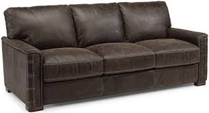 Flexsteel Leather Sofa Flexsteel Latitudes Lomax Rustic Leather Sofa With Nailhead