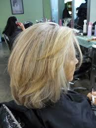 which works best highlights or lowlights to blend grey hair medium dark brown hair with blending gray highlights photo dark