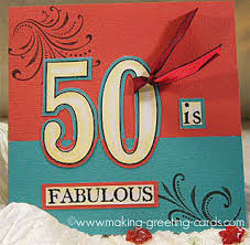 fabulous 50th birthday cards for him and her