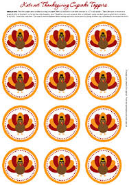 printable thanksgiving cupcake toppers by kate net