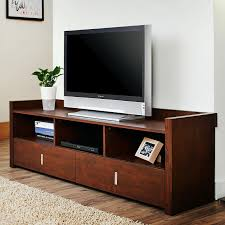Tv Tables At Walmart Altra Designs Clark 70 In Tv Stand Hayneedle