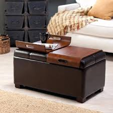 Coffee Table Ottoman Combo Fancy Ottoman With Tray On Top Coffee Table Storage Ottoman With