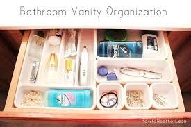 Bathroom Vanity Organizers Ideas Organizing Bathroom Drawers Simpletask Club